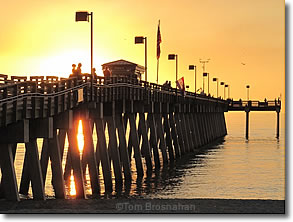 Sunset at the Fishing Pier, Venice Florida