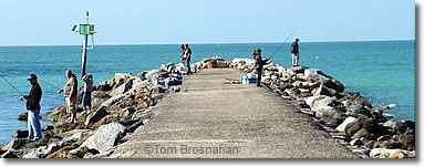 Fishing at North Jetty, Venice Florida