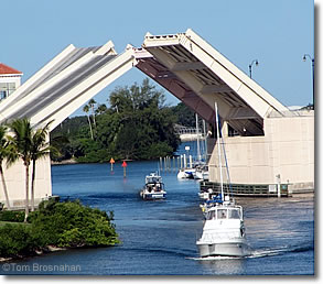 Drawbridge on the Intracoastal Waterway, Venice Florida